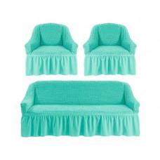 Комплект чехлов КП311 (диван+2кресла) 218 Мятный (Turkuaz)
